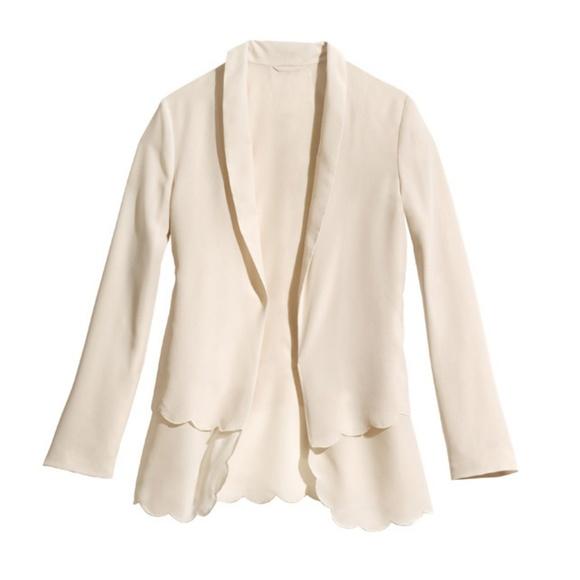 H&M Jackets & Blazers - H&M Conscious Scalloped Edge Blazer